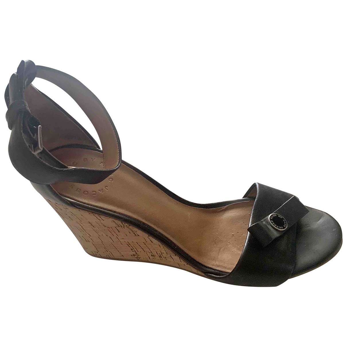 Marc By Marc Jacobs \N Black Leather Sandals for Women 7.5 US