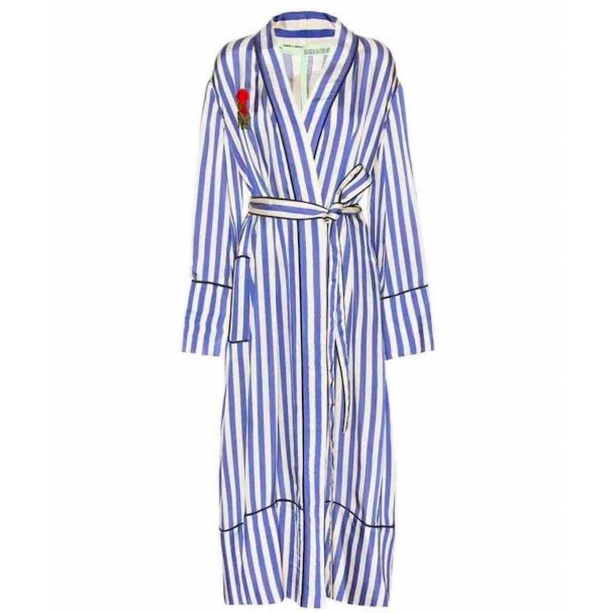 Off-white \N Blue Silk coat for Women S International