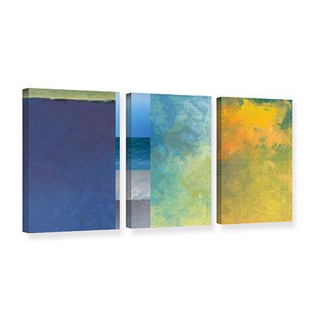 Brushstone 3-pc. Canvas Art, One Size , Purple