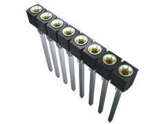 Samtec , SS 2.54mm Pitch 20 Way 1 Row Vertical PCB Socket, Through Hole, Solder Termination (11)