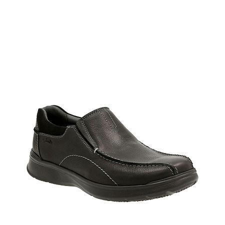 Clarks Cotrell Step Mens Leather Casual Shoes, 10 1/2 Medium, Black