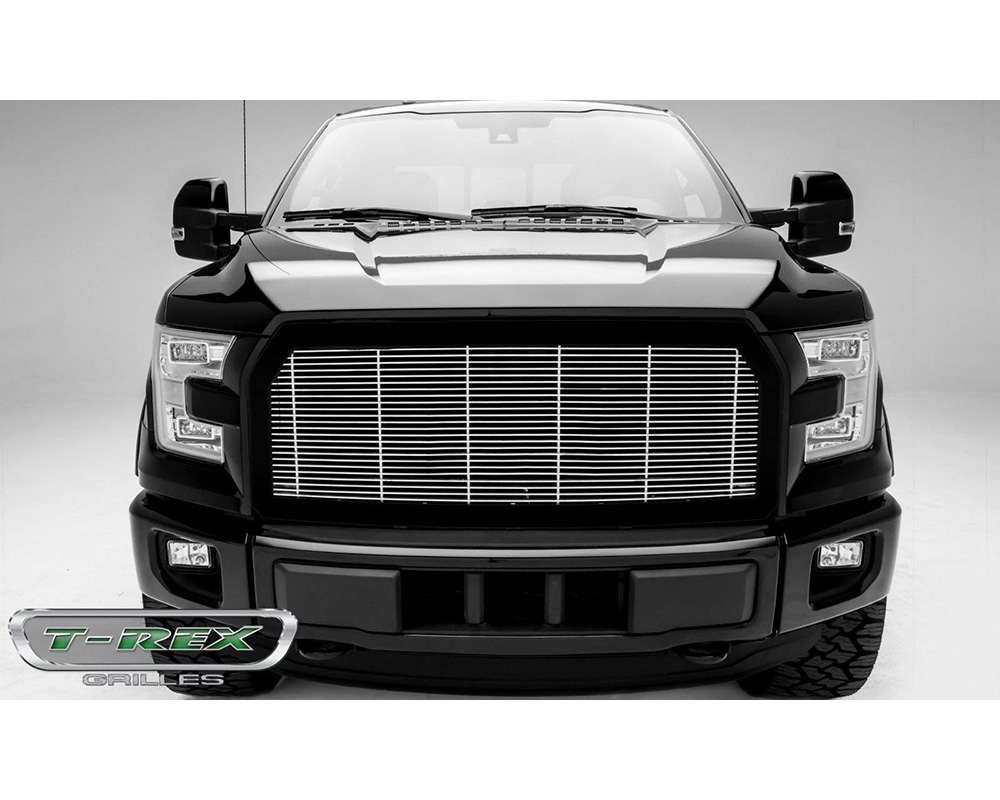 2015-2017 F-150 Billet Grille with frame, Polished, 1 Pc, Replacement,  - PN #58573