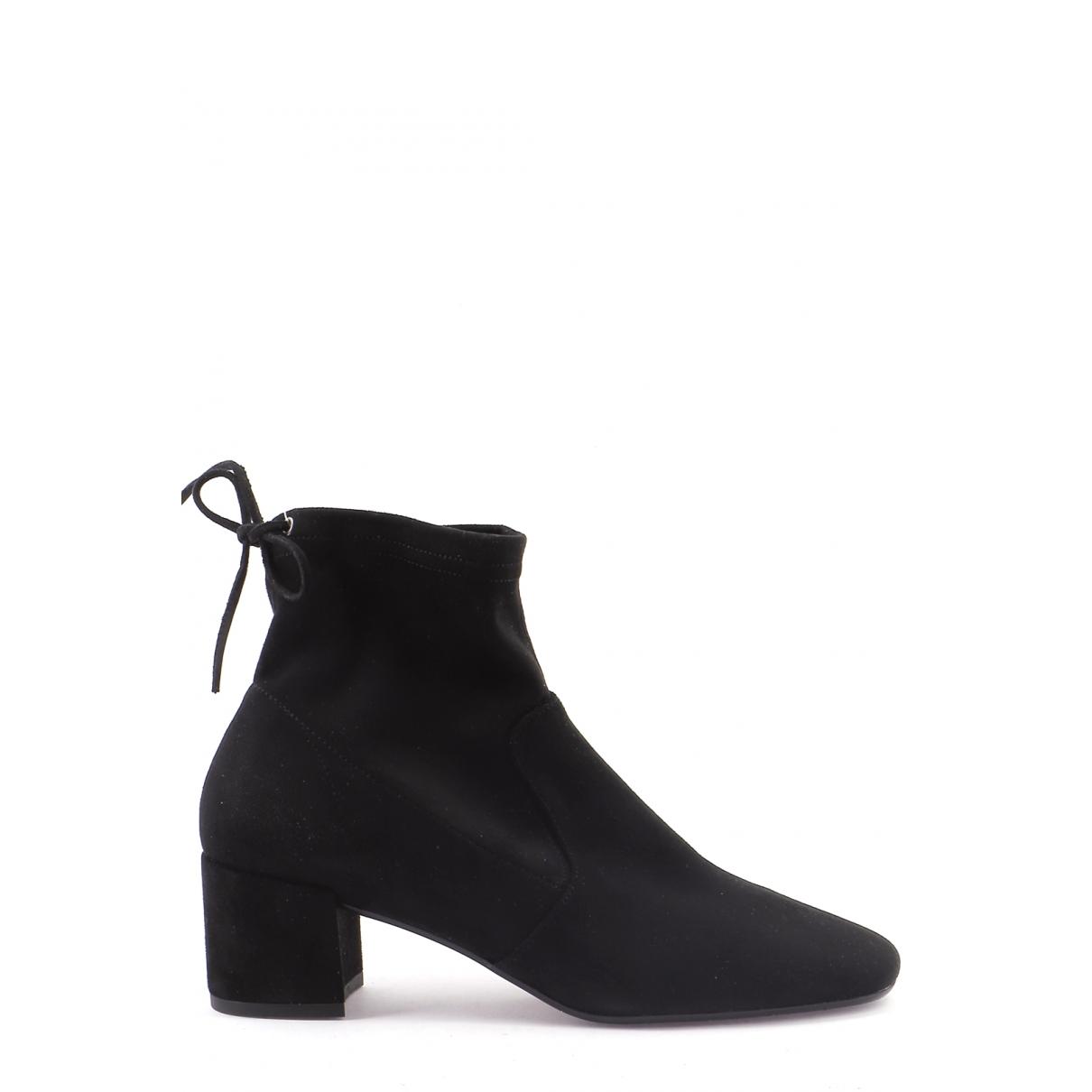 Autre Marque \N Black Suede Boots for Women 38.5 EU