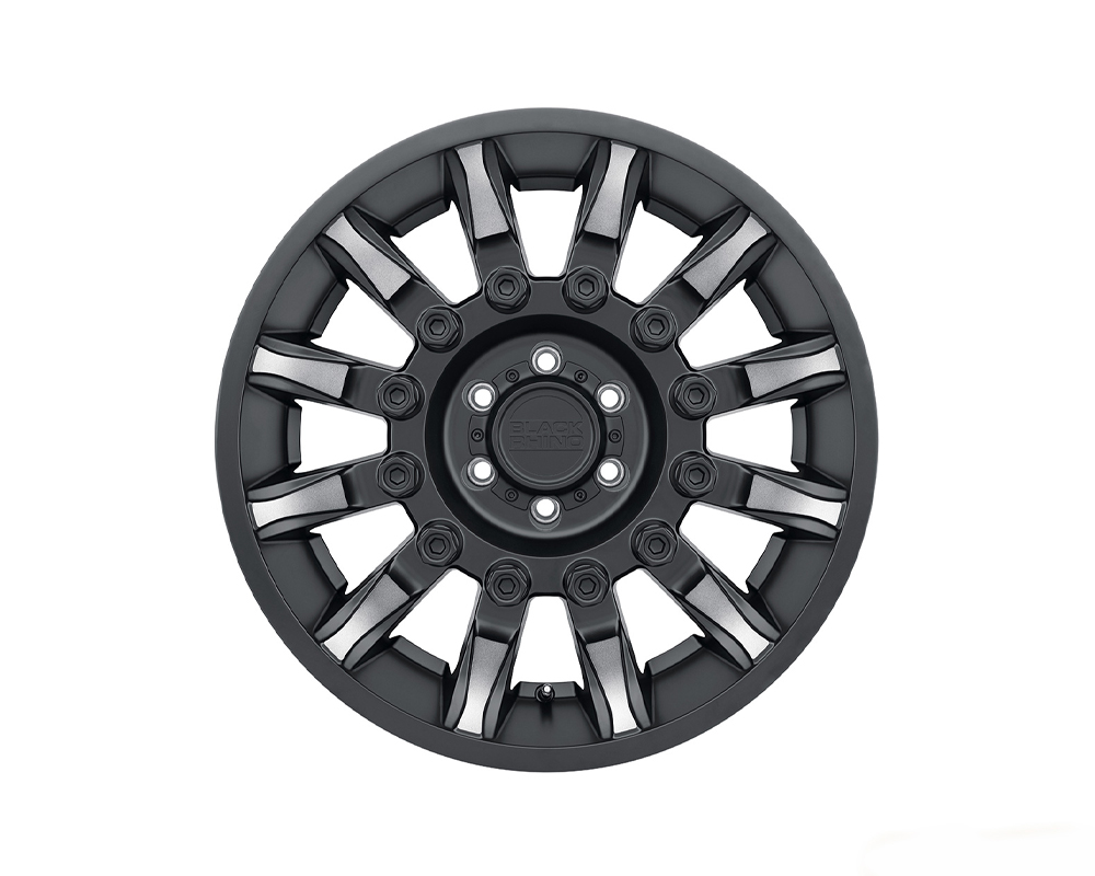 Black Rhino Mission Wheel 18x9 8x165.10|8x6.5 -18mm Matte Black w/ Machined Tinted Spokes