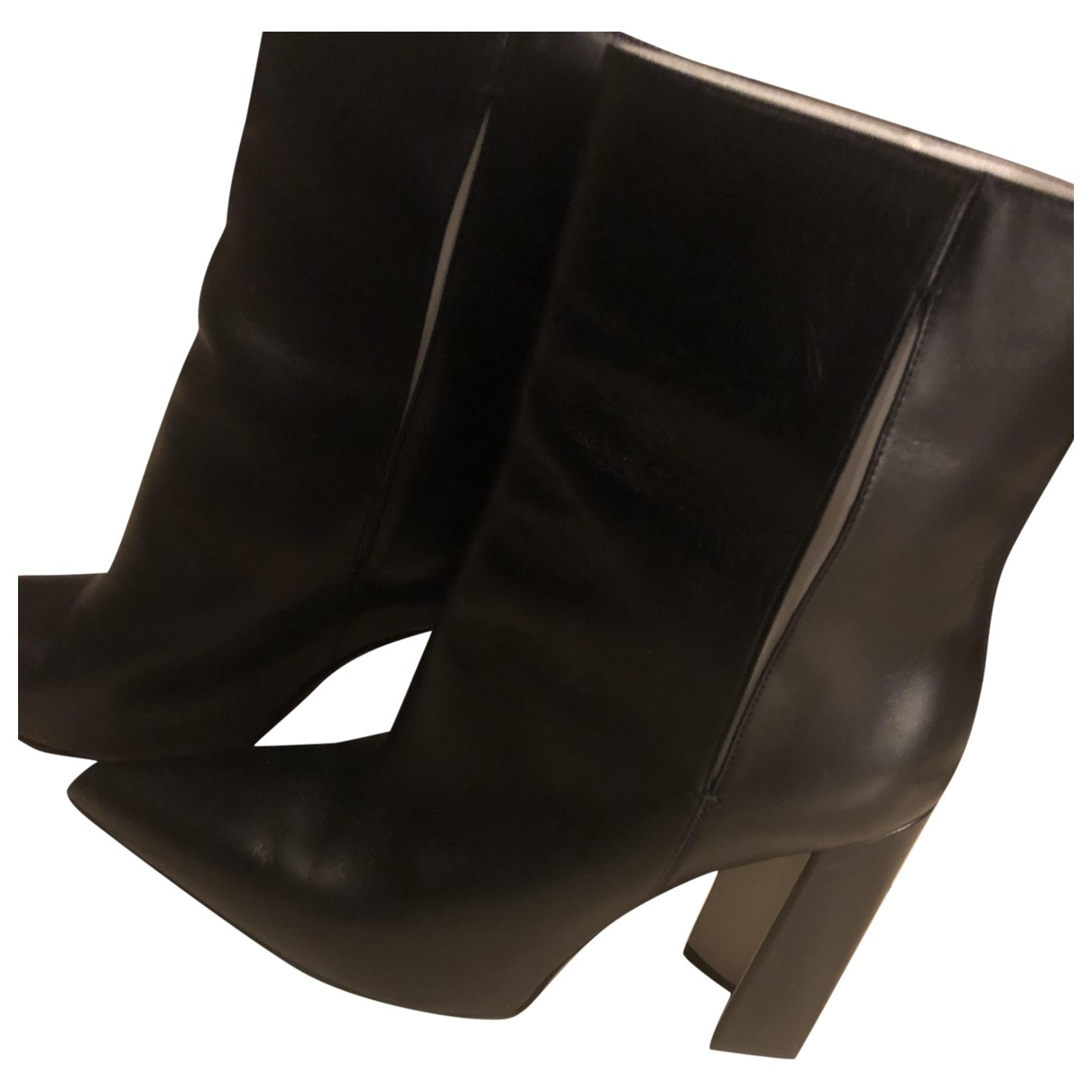 Louis Vuitton Matchmake Black Leather Ankle boots for Women 39.5 EU
