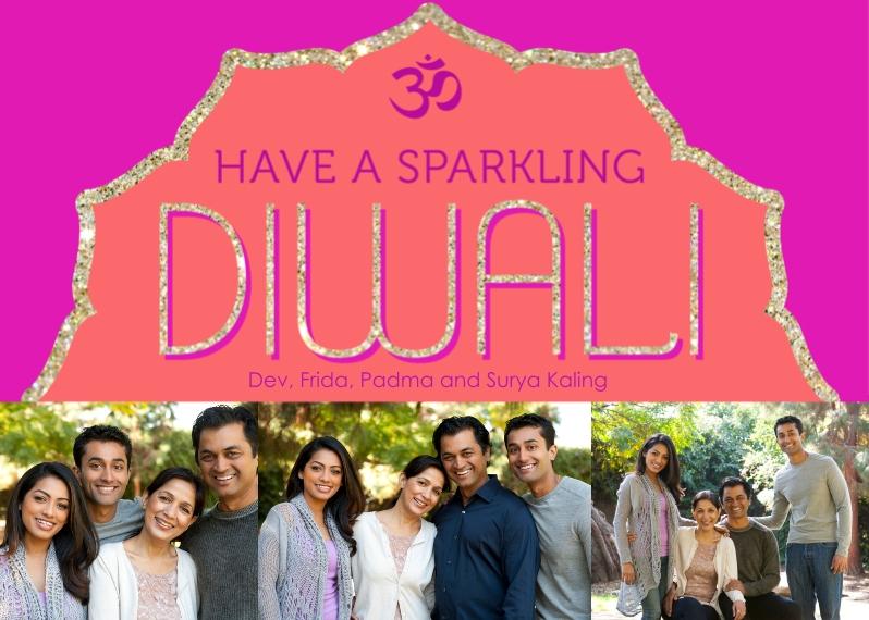 Diwali Cards Flat Matte Photo Paper Cards with Envelopes, 5x7, Card & Stationery -Sparkling Diwali