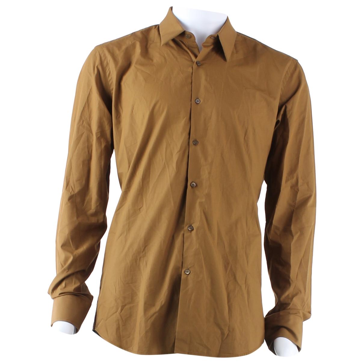 Fendi \N Brown Cotton Shirts for Men 42 FR
