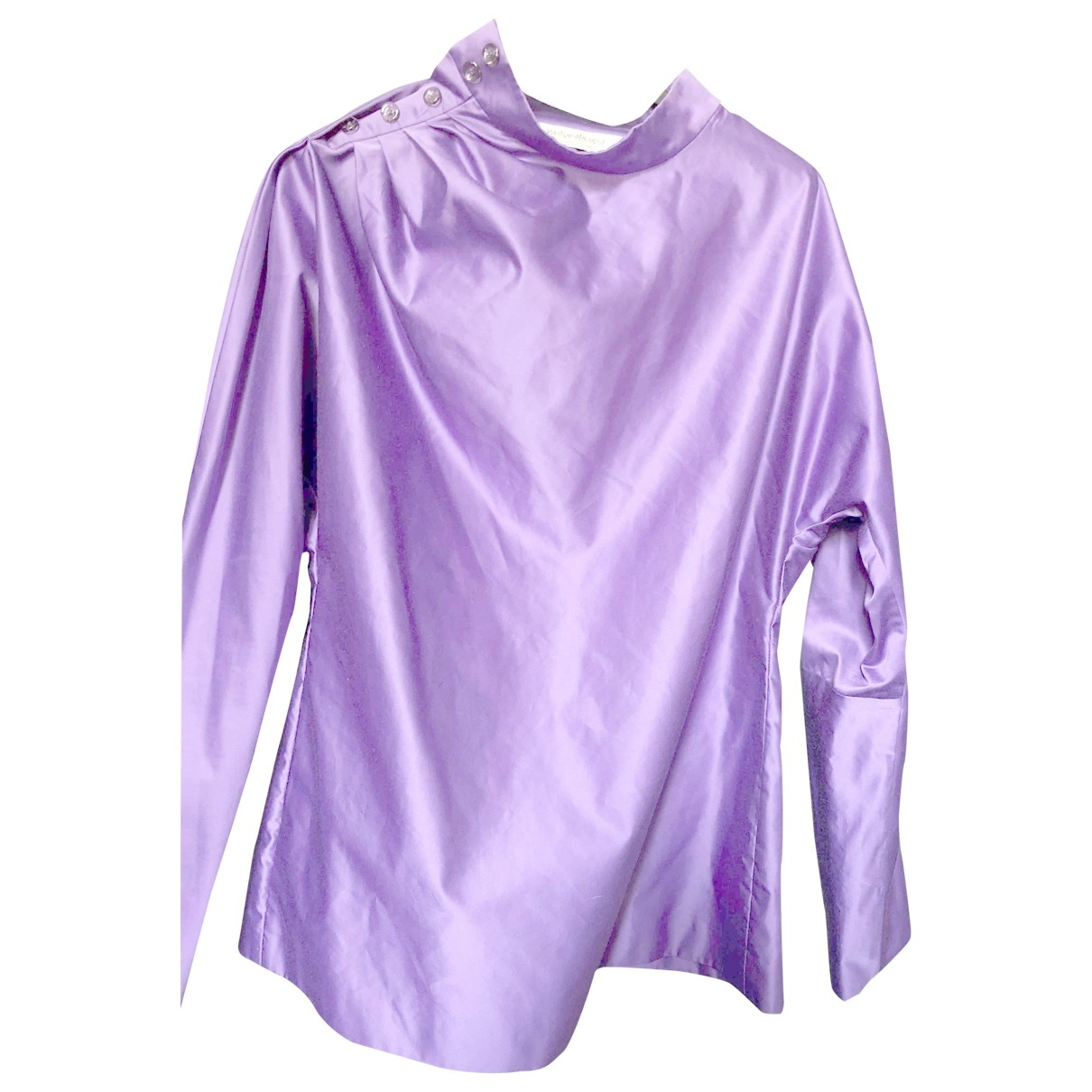 Yves Saint Laurent \N Purple Cotton  top for Women 38 FR