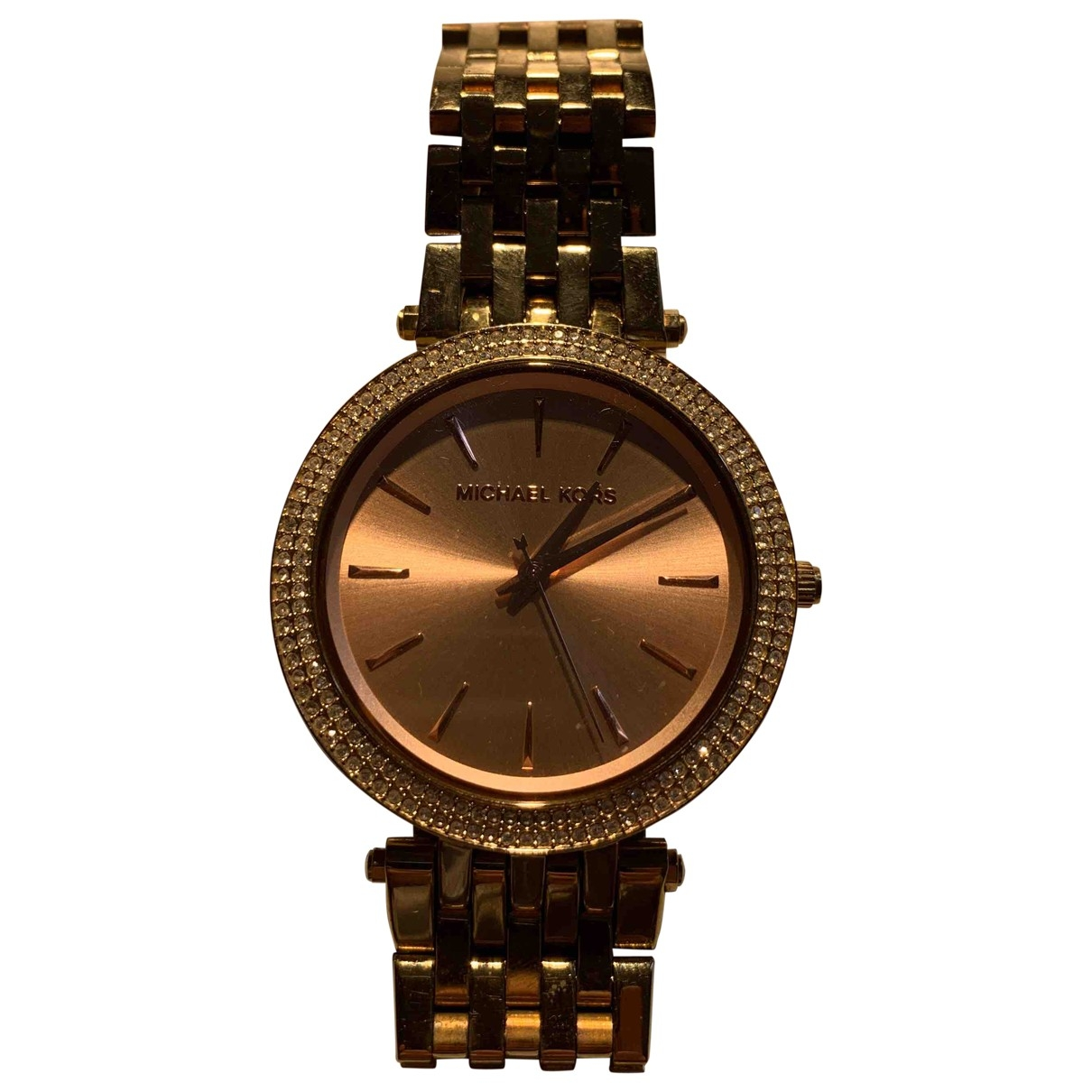 Michael Kors \N Gold Gold plated watch for Women \N