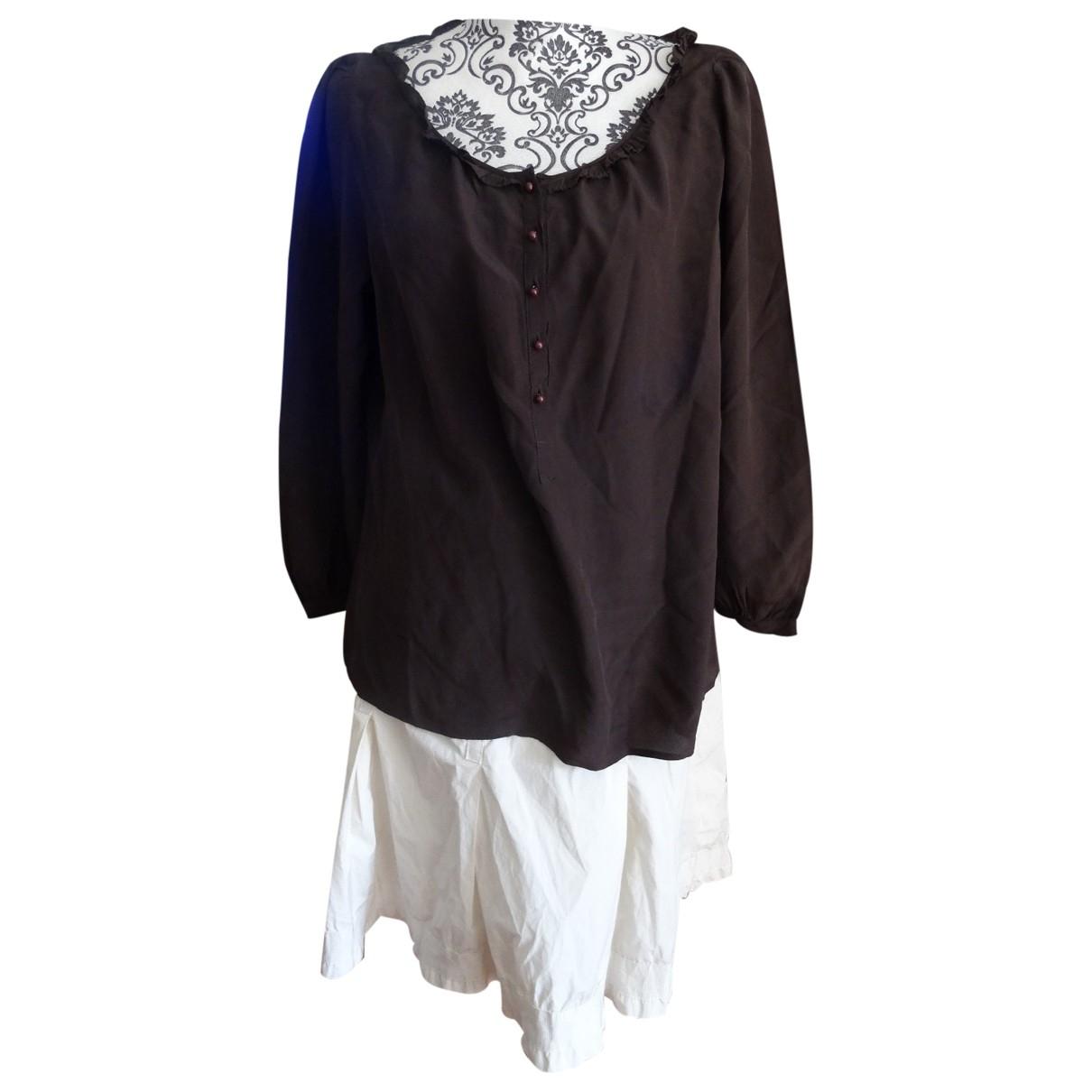 Gerard Darel \N Brown Silk  top for Women 44 FR
