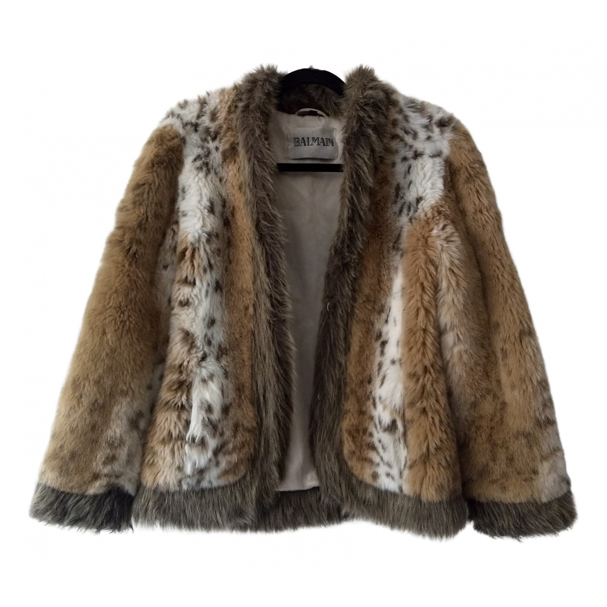 Balmain \N Multicolour Faux fur coat for Women 38 FR
