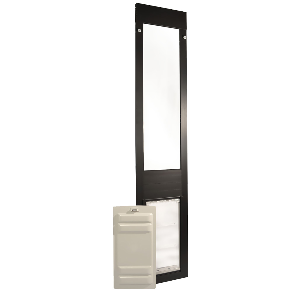 Endura Flap Pet Door - Thermo Panel 3e Bronze Frame - Large (77.25