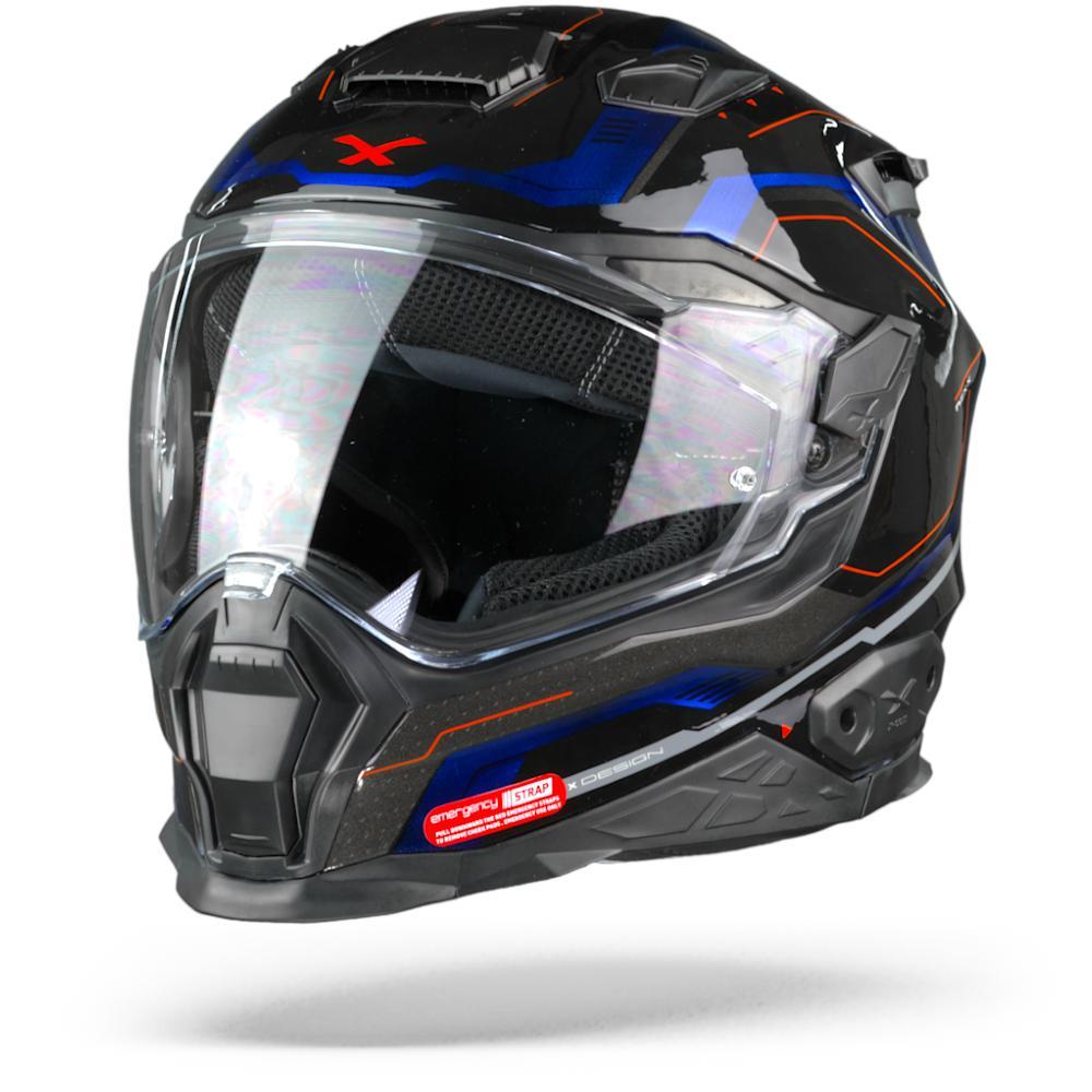 Nexx X.WST2 Supercell Casco Integral Negro Azul  3XL
