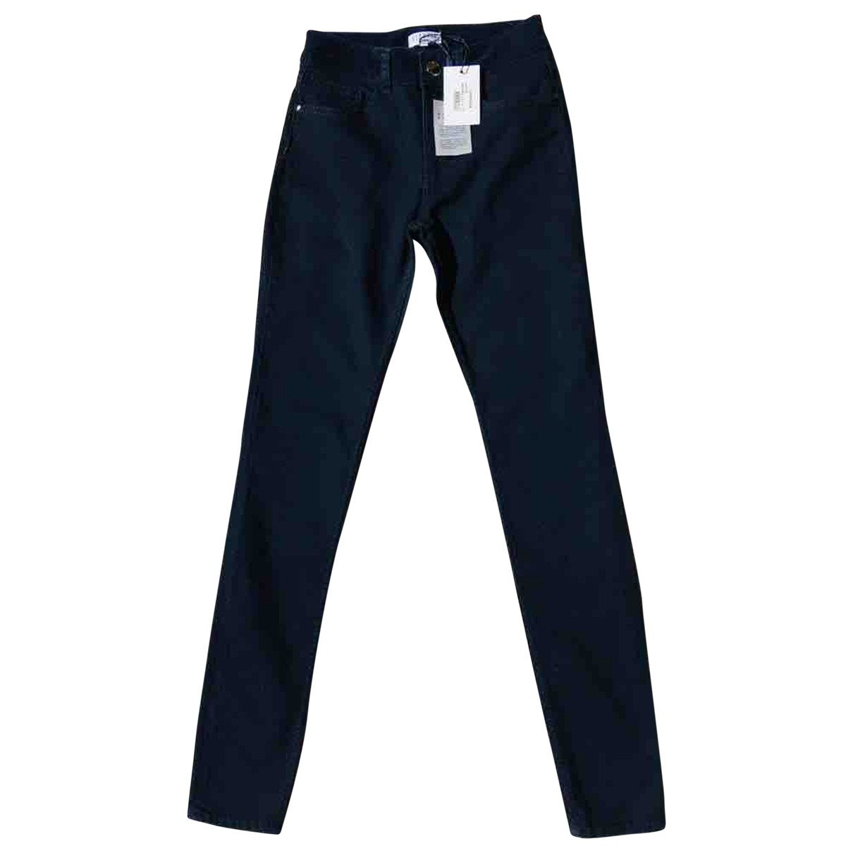 Claudie Pierlot \N Navy Cotton - elasthane Jeans for Women 34 FR