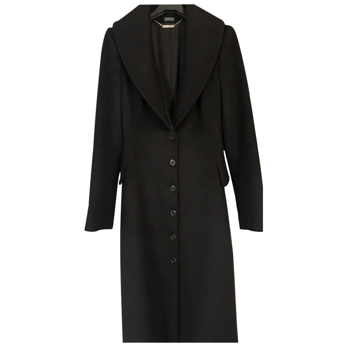 Alexander Mcqueen \N Black Cashmere coat for Women 44 IT