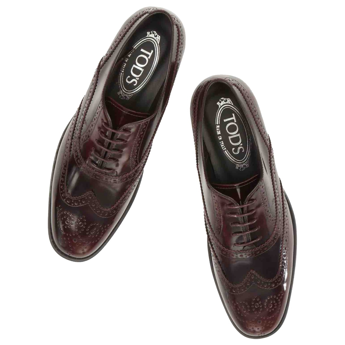 Tod's \N Burgundy Leather Lace ups for Women 38 EU