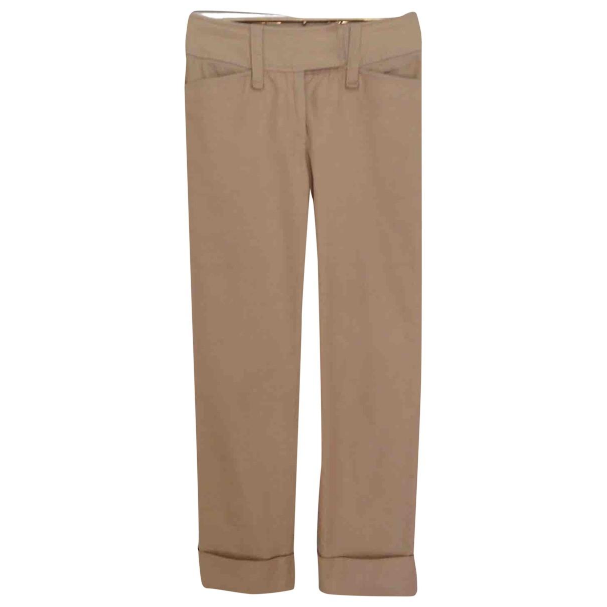 D&g \N Khaki Cotton Trousers for Women 40 IT