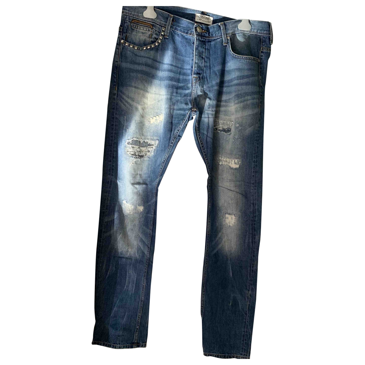 Zara \N Blue Denim - Jeans Trousers for Men 44 FR