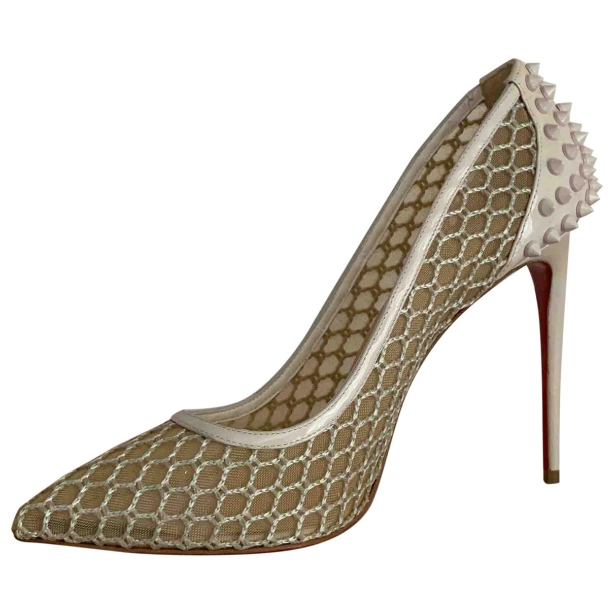 Christian Louboutin \N White Patent leather Heels for Women 40 EU