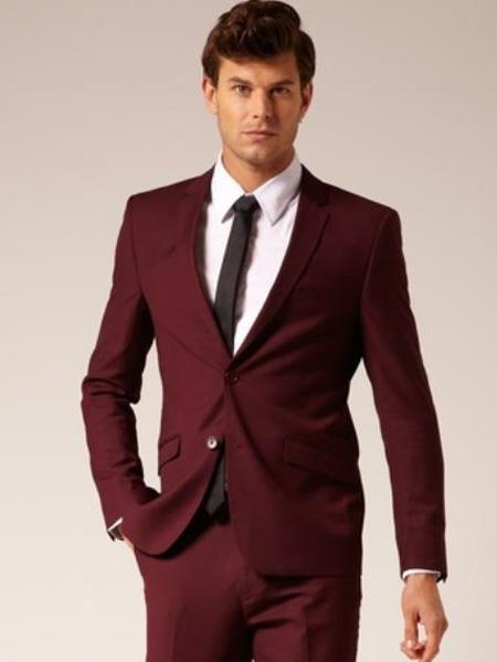 Burgundy ~ Maroon ~ Wine Color Suit Separate Any Size Jacket & Pants