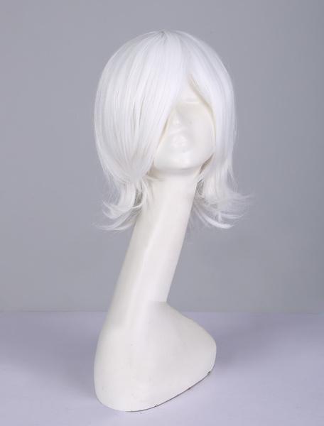 Milanoo Ken Kaneki Cosplay Wig White Tokyo Ghoul Japanese Anime Wig