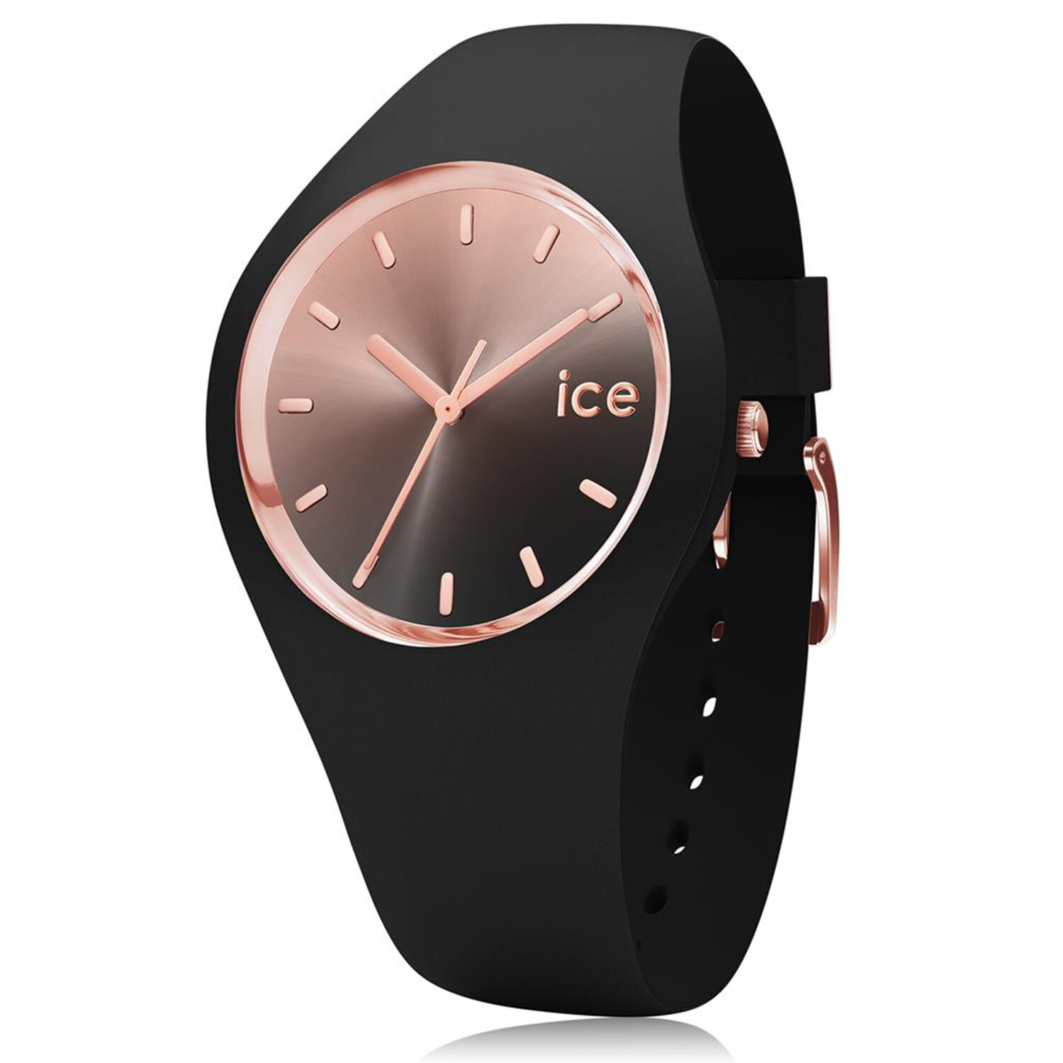 Ice-Watch Women's Sunset 015748 Black Silicone Quartz Fashion Watch