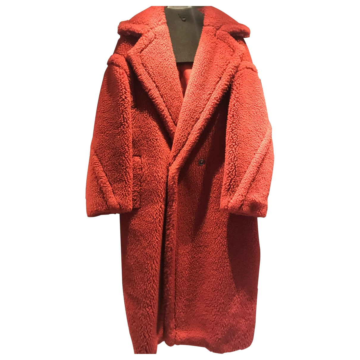 Max Mara Teddy Bear Icon Red Wool coat for Women 42 IT