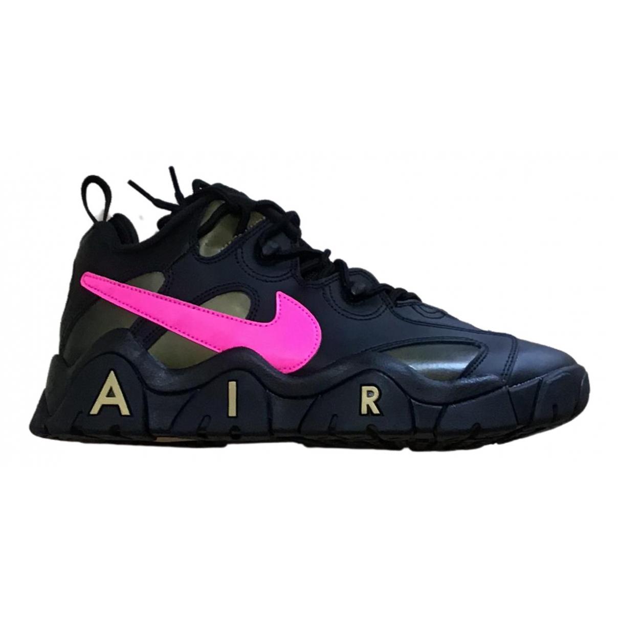 Nike \N Black Leather Trainers for Men 42.5 EU