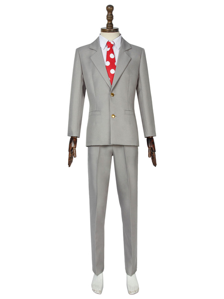 Milanoo My Hero Academia Cosplay SIR.Night Eye Cosplay Uniform Cloth Deep Gray Cosplay Costumes