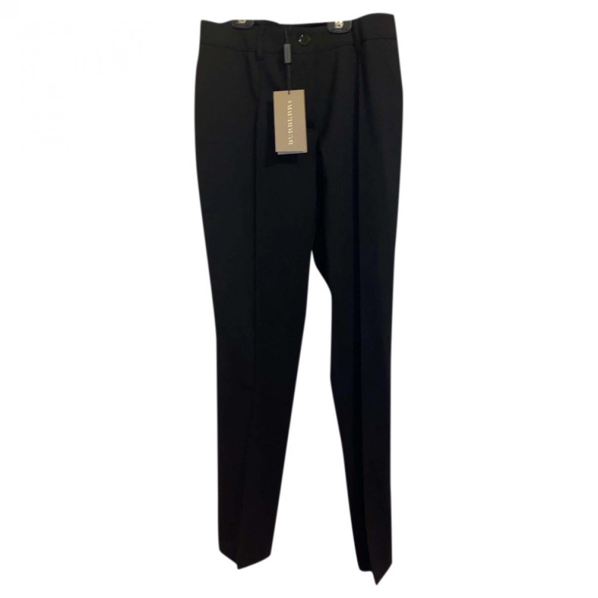 Burberry \N Black Trousers for Women 6 UK