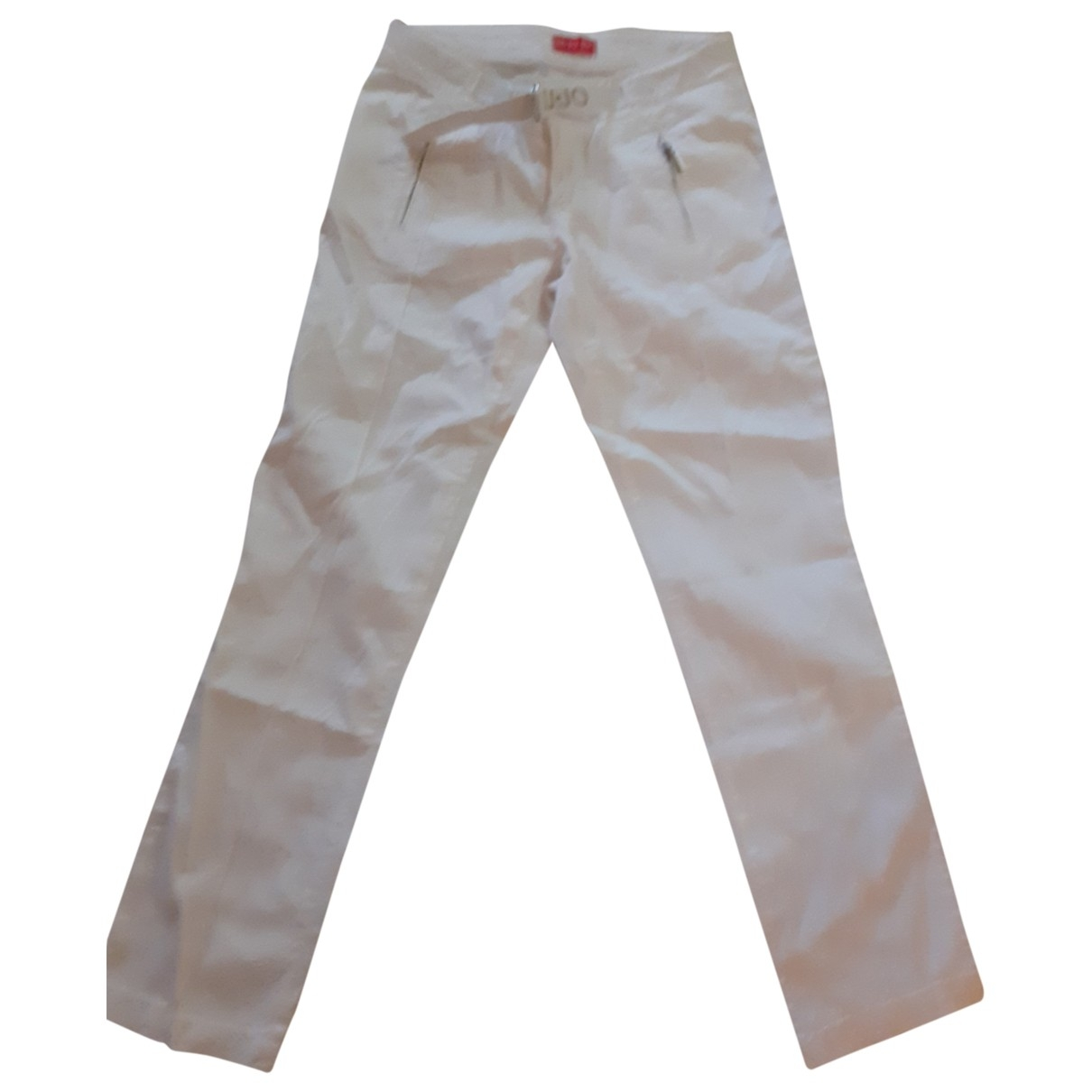 Liu.jo \N White Cotton Trousers for Kids 14 years - S FR