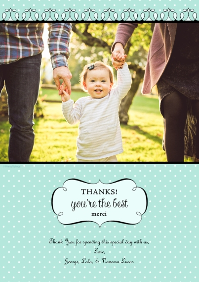 Thank You Cards 5x7 Cards, Premium Cardstock 120lb with Elegant Corners, Card & Stationery -Thanks!