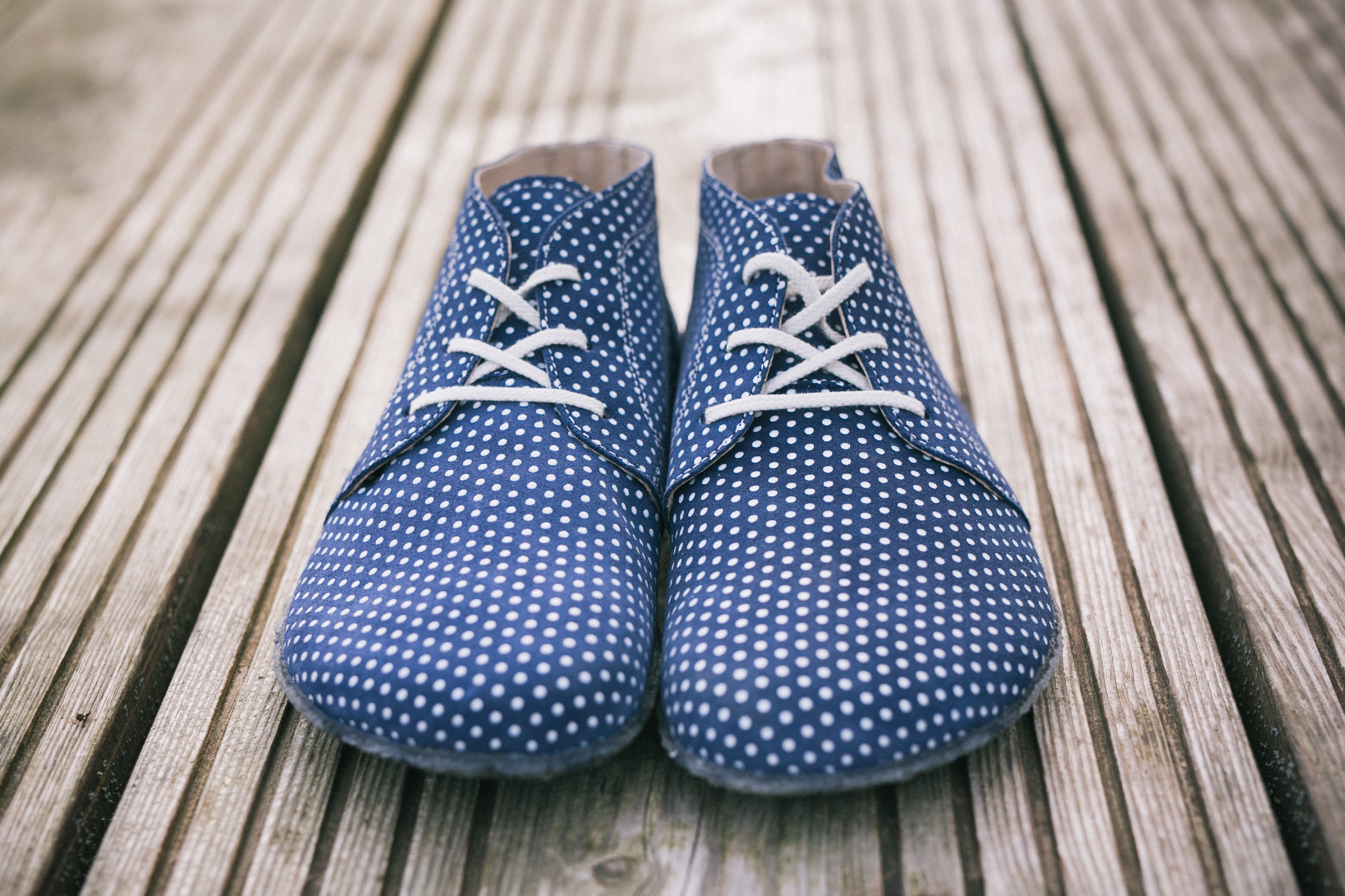 Barefoot shoes - Be Lenka All-year - Blue with White dots 43
