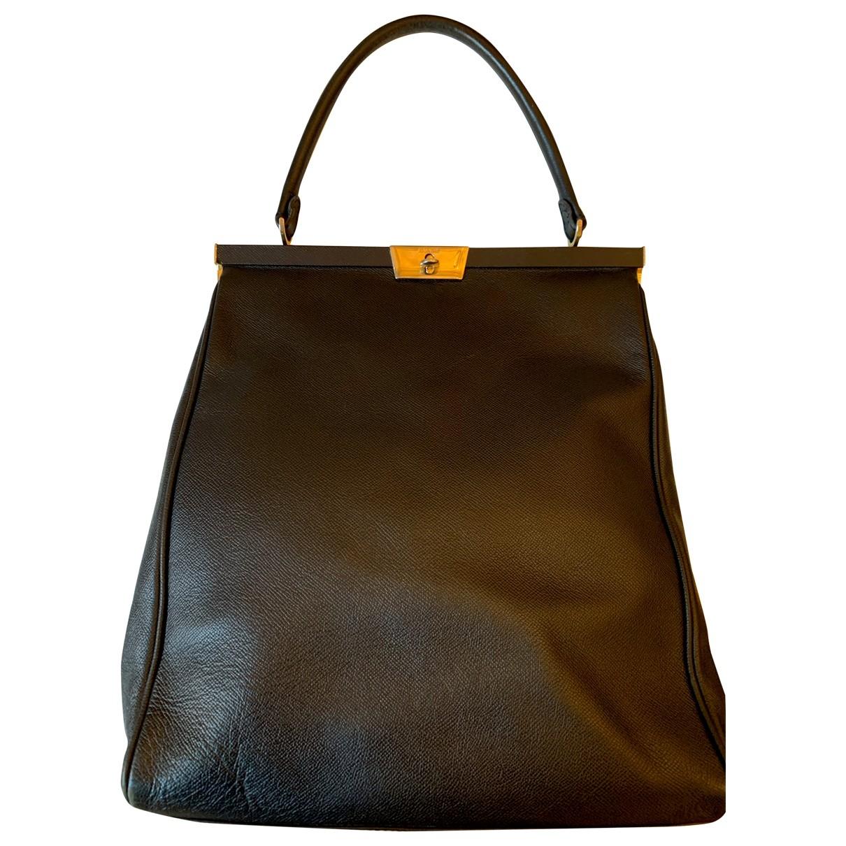 Jil Sander \N Black Leather handbag for Women \N