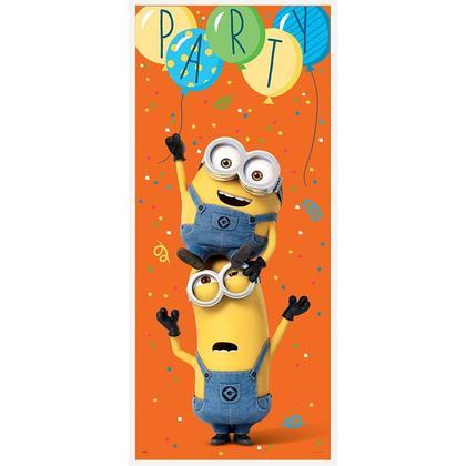 Porte Affiche Despicable Me Minions Plastique 27''W x 60''L 1Pcs Pour la fête d'anniversaire