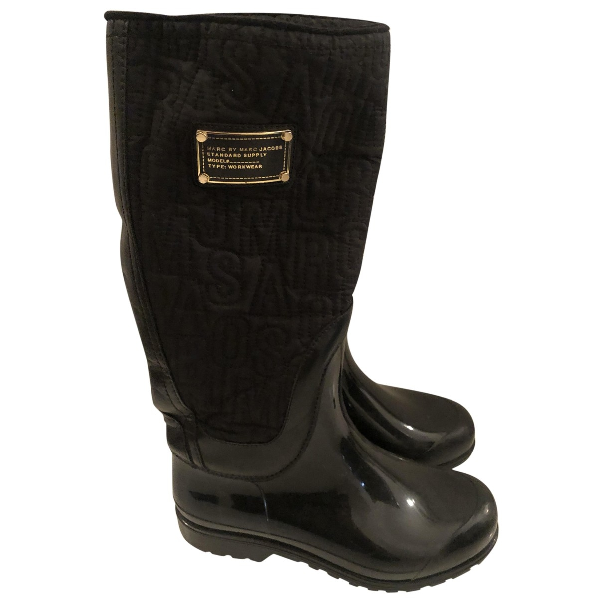 Marc By Marc Jacobs \N Black Rubber Boots for Women 37.5 EU