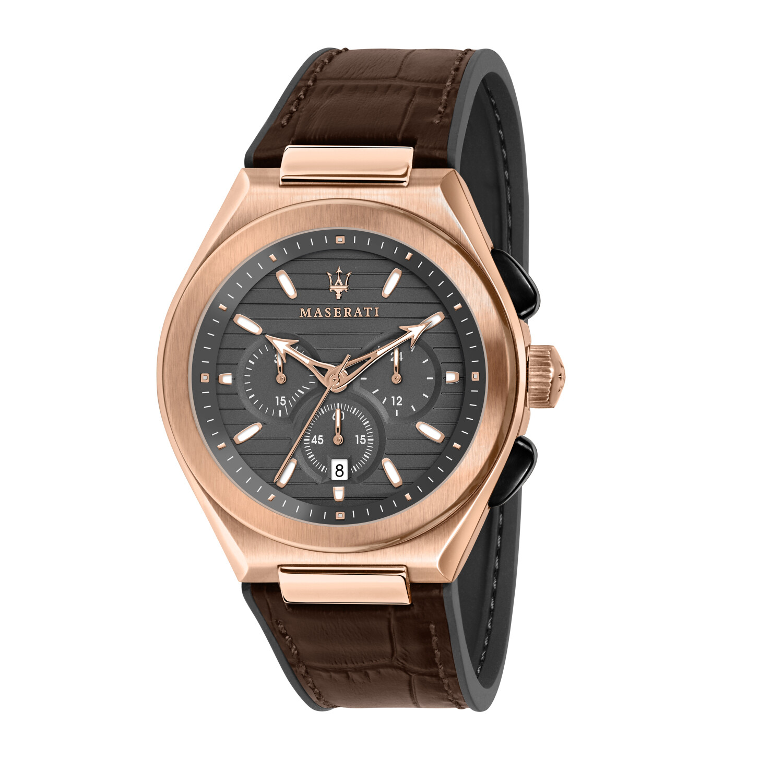 Maserati Men's Triconic R8871639003 Brown Leather Quartz Fashion Watch
