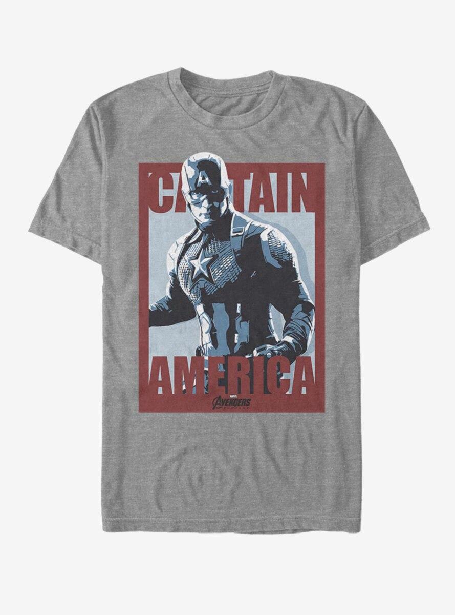 Marvel Avengers: Endgame Captain America Poster T-Shirt