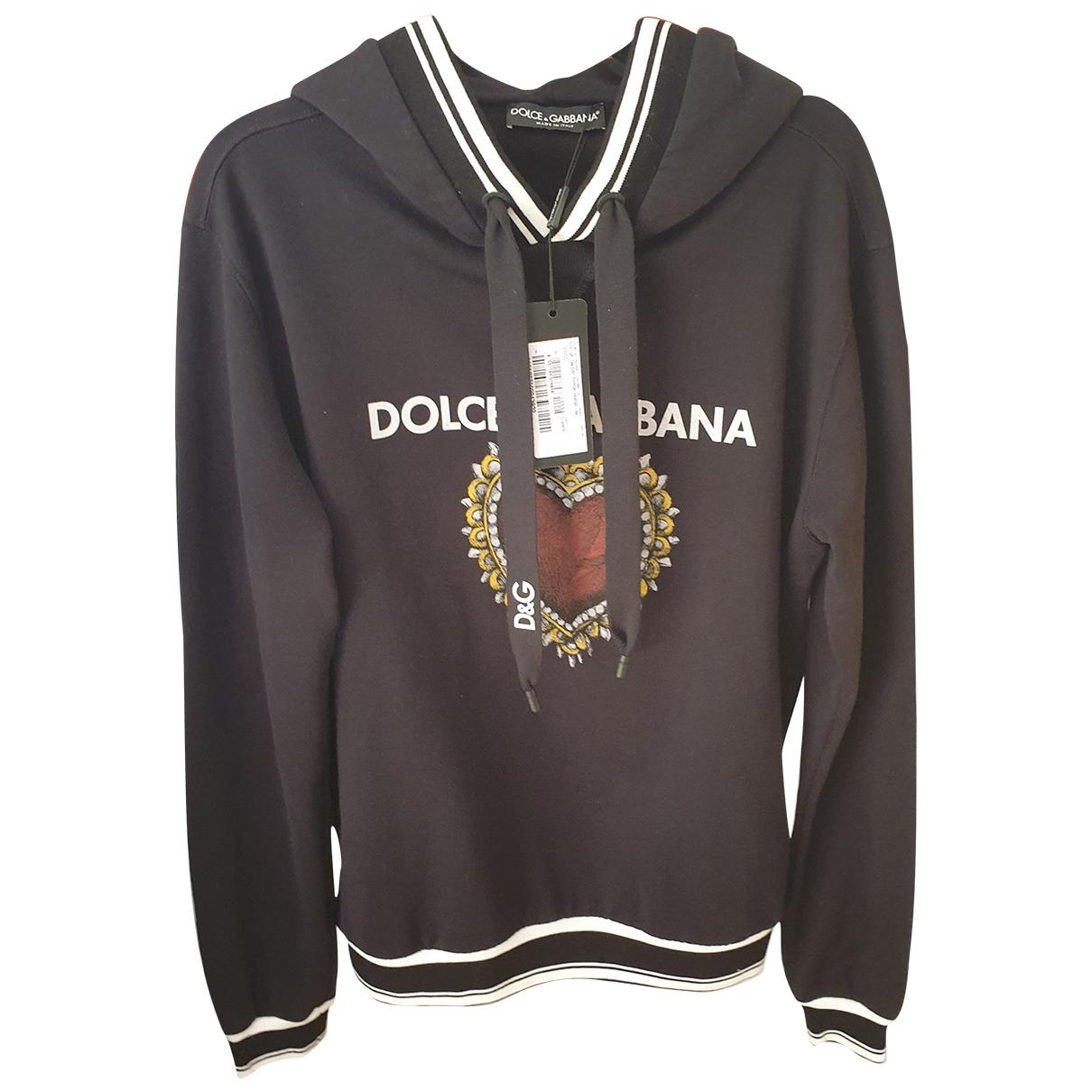 Dolce & Gabbana \N Black Cotton Knitwear & Sweatshirts for Men M International