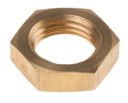 RS PRO Brass Locknut for use with Temperature Sensor, 1/8 BSPP