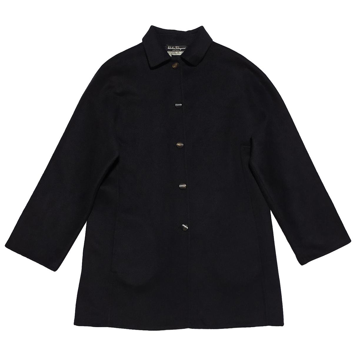 Salvatore Ferragamo \N Black Wool coat for Women 40 IT