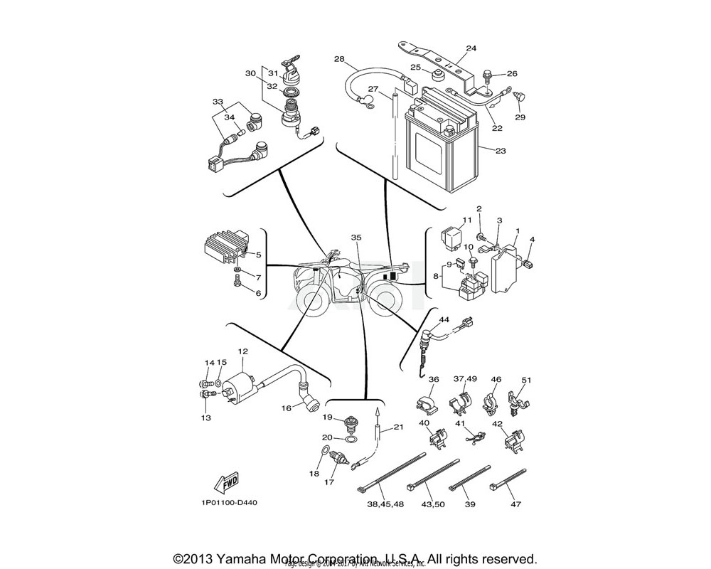 Yamaha OEM 1P0-H2128-00-00 BRACKET, BATTERY | (YMUS)