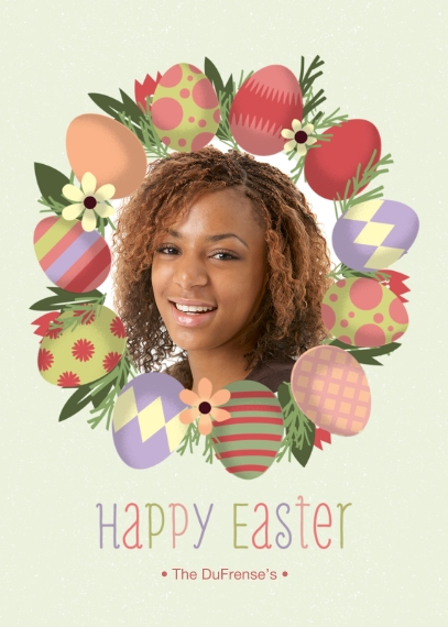 Easter Cards Flat Glossy Photo Paper Cards with Envelopes, 5x7, Card & Stationery -Easter Egg Frame