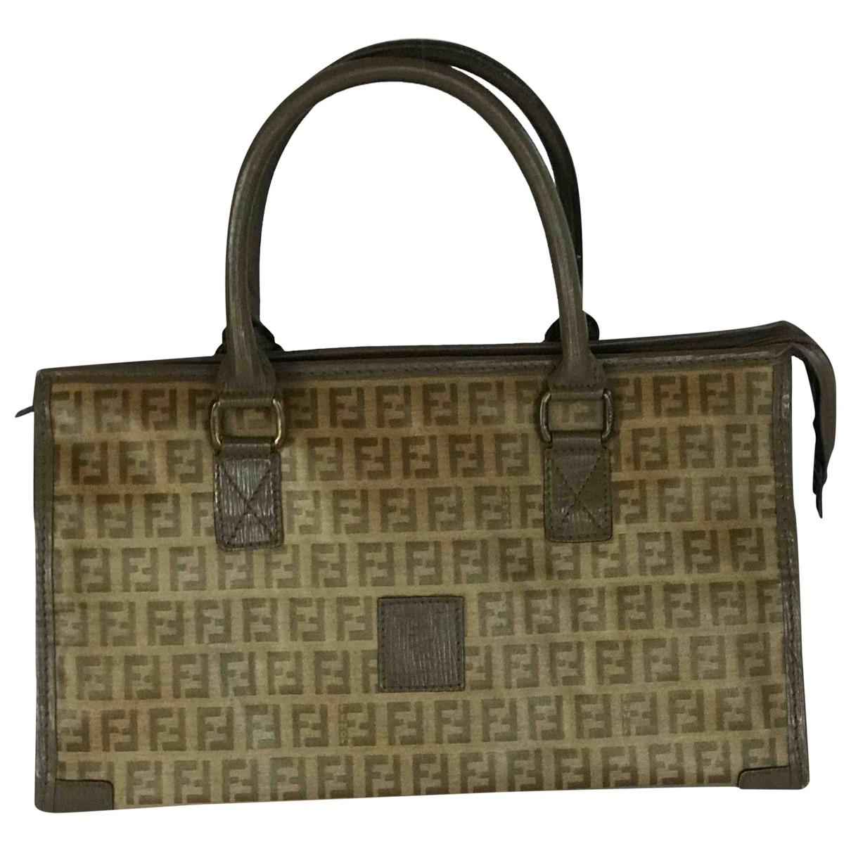 Fendi Peekaboo defender Brown Cloth handbag for Women \N