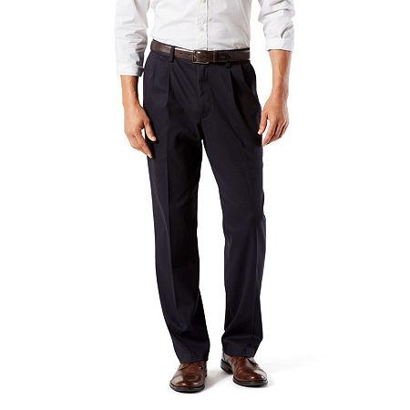 Dockers Men's Classic Fit Easy Khaki Pants - Pleated D3, 38 32, Blue