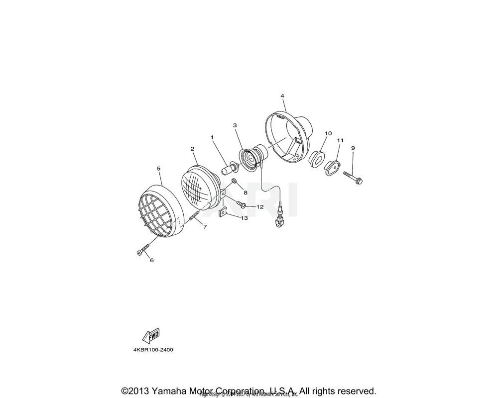 Yamaha OEM 2GU-84332-00-00 SPRING, SCREW