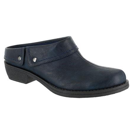 Easy Street Womens Becca Clogs, 5 1/2 Medium, Blue