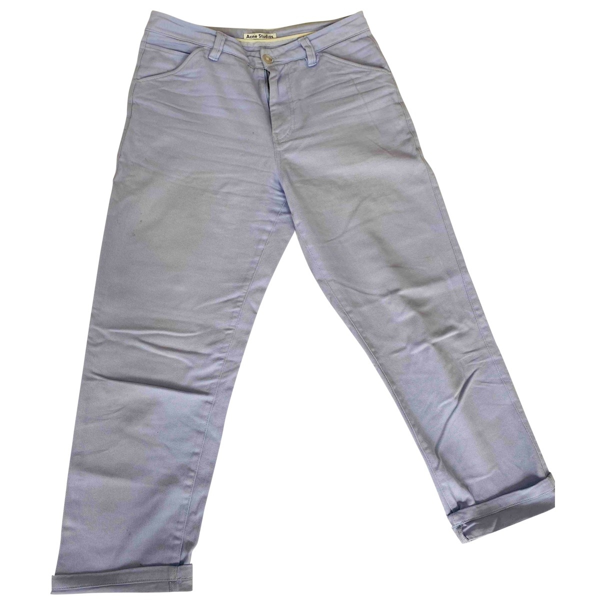 Acne Studios \N Purple Cotton Trousers for Men 48 IT