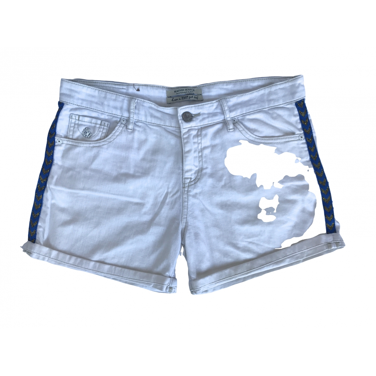 Maison Scotch \N White Cotton Shorts for Women M International
