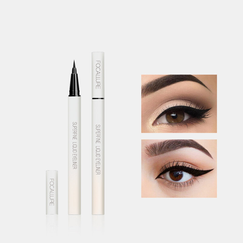 Liquid Eyeliner Pen Waterproof 24 Hours Long Lasting Smooth Superfine Eyeliner